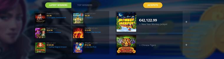 FastPay Casino jackpot