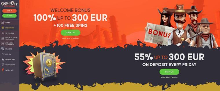 GunsBet Casino bonusser
